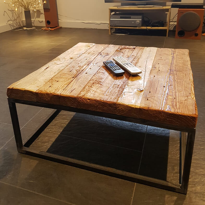 Designer Reclaimed Wood Coffee Table From Reclaimed Wood Nydala Design